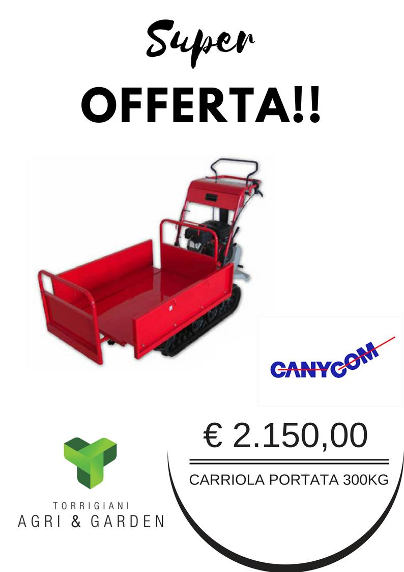 CARRELLO CINGOLATO 300KG | Torrigiani Agri & Garden S.r.l.